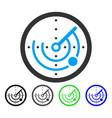 round radar flat icon vector image