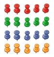 Set of push pins vector image