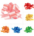 collection of bows vector image vector image