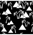 seamless palm pyramids vector image
