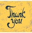 Thank you background vector image