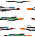 Jet-fighter on white vector image
