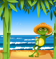 frog on the beach vector image vector image