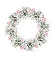 floral pattern with wreath vector image