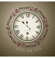 Clock vintage style for new year and christmas vector image