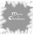 Elegant Christmas card vector image