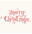 Vintage Christmas Calligraphy Card vector image