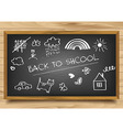 School Board on wooden background vector image