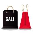 icon bag shop paper design vector image