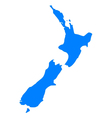 Map of New Zealand vector image vector image