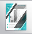 abstract blue flyer brochure template design for vector image