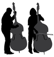Bass Player Silhouette vector image
