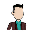 man young character people cartoon vector image