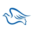 Blue of a dove flying vector image