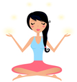 Cute woman doing yoga asana isolated on white vector image vector image