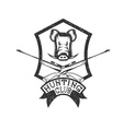 grunge hunting club crest with carbines and boar vector image