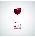 wine glass logo design background vector image vector image