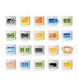 programming and computer icons vector image