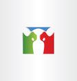 colorful cow logo icon vector image