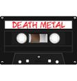 Vintage old school cassette vector image