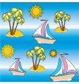 wallpaper beach vector image vector image