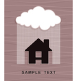 House under rain vector image vector image