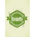 eco friendly label vector image vector image