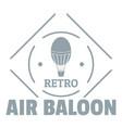air balloon logo simple gray style vector image