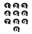 bubble conversation numbers icons set vector image