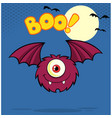furry one eyed monster cartoon character vector image