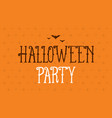 halloween party background card celebration vector image