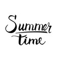 hand drawn lettering summer time vector image