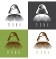 monk face set simple design vector image