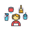 personal maid housekeeping woman cleaning vector image