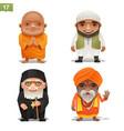 religion professions set vector image