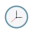 round clock time hour date icon vector image