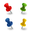 Set colored pins vector image