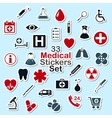 Set of medical icon stickers vector image