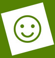 smile icon white icon obtained as a vector image