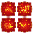 Chinese animals horoscope set vector image vector image