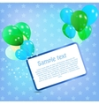 birthday card with colored ballons vector image vector image