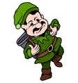 Elf Miner vector image