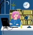 Long working hours vector image vector image