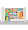 colorful woman wardrobe elements concept vector image