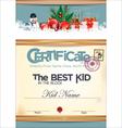 Certificate best kid in the block vector image