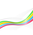 Ribbon wave background vector image