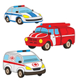 police fire ambulance vector image