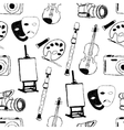 doodle art seamless pattern vector image