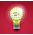 Lightbulb Idea Concept 3d Spheres Composition vector image vector image