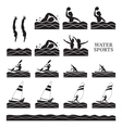 Sports Athletes Water Sports Silhouette Set vector image